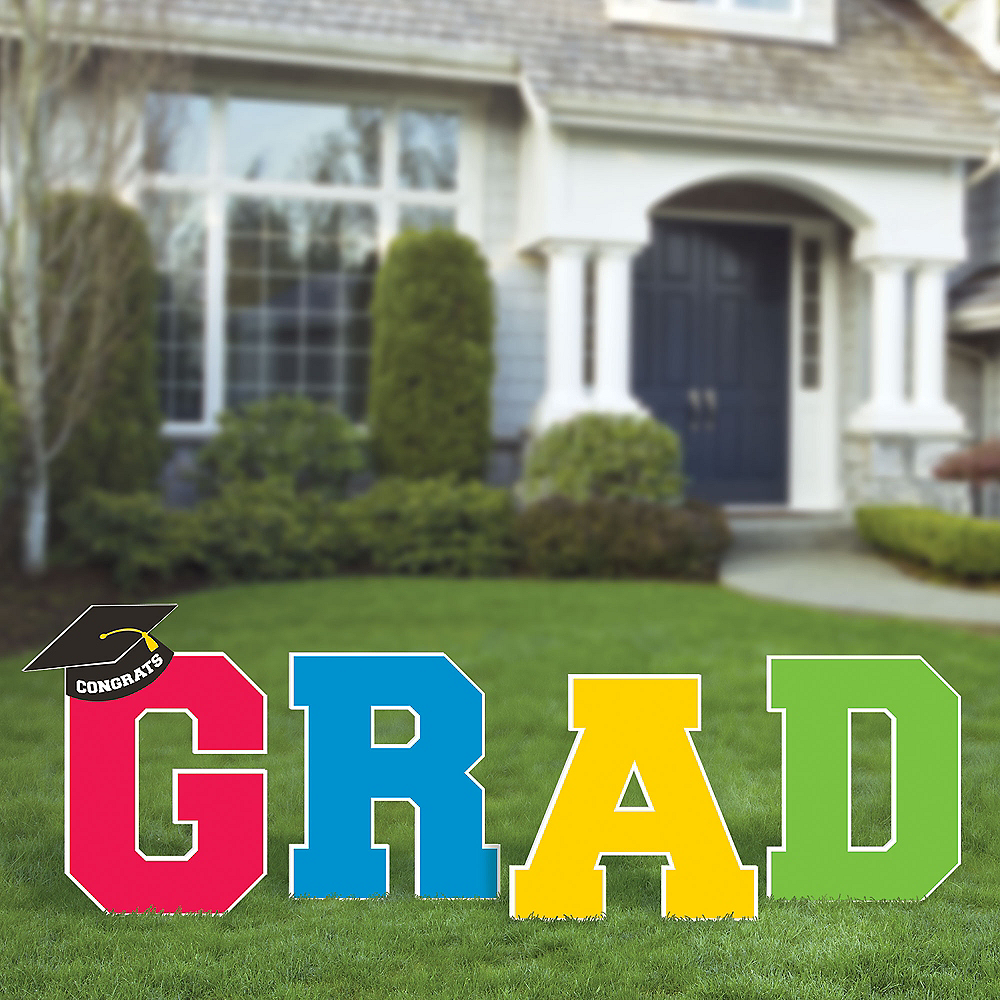 Nav Item for Multicolor Graduation Yard Signs 4ct Image #2