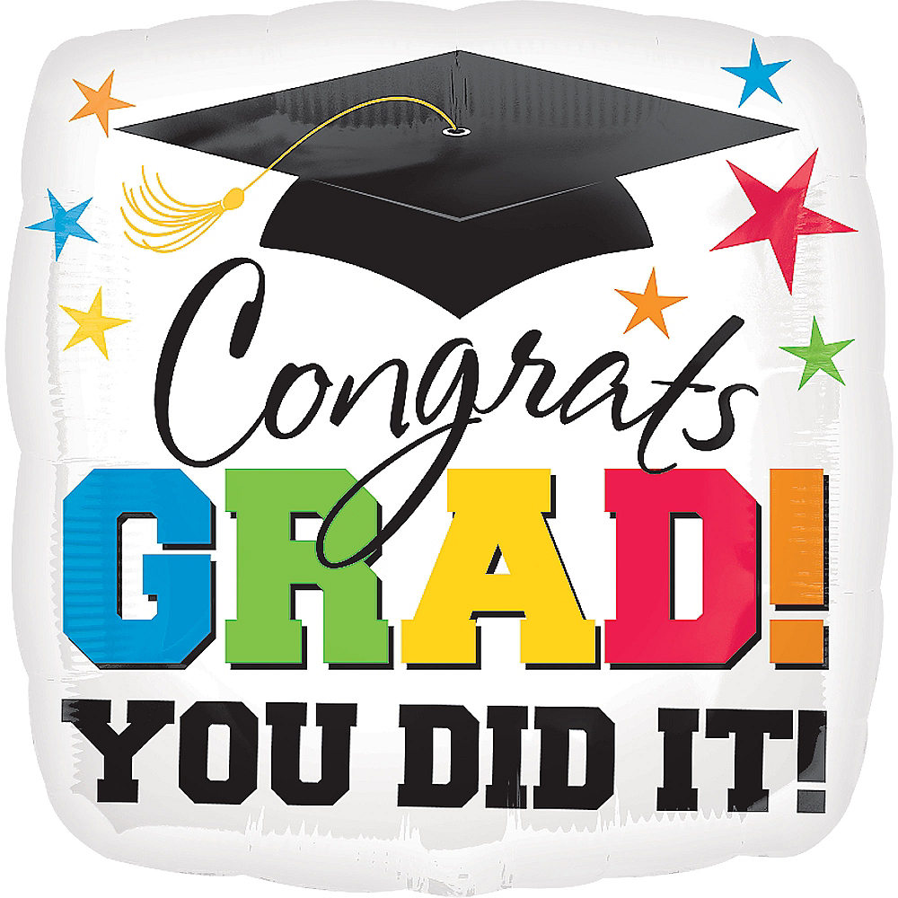 Congrats Grad Graduation Balloon, 32in Image #1