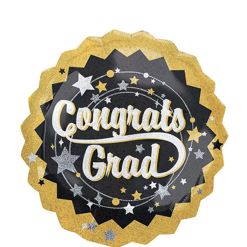 Holographic Congrats Grad Graduation Balloon, 32in Image #1