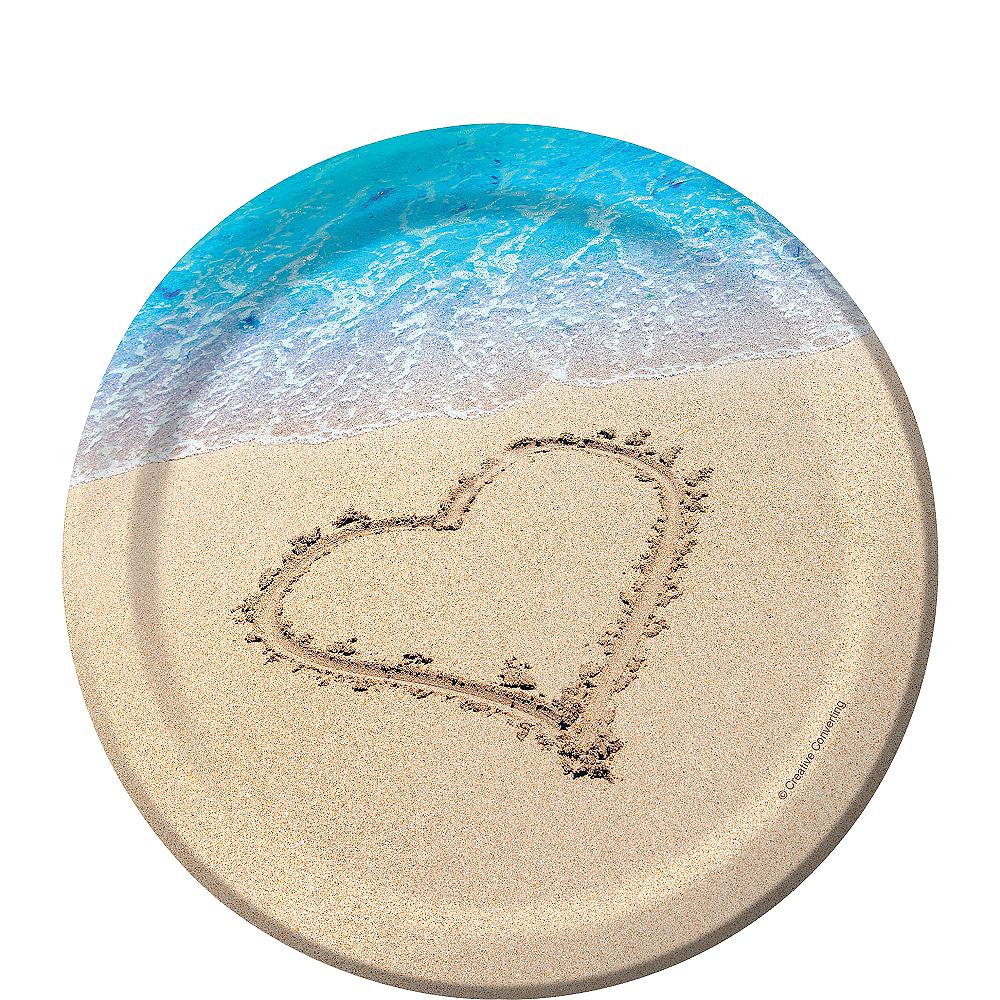 Beach Love Wedding Dessert Plates 8ct Image #1