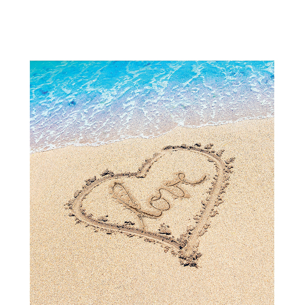 Beach Love Wedding Lunch Napkins 16ct Image #1
