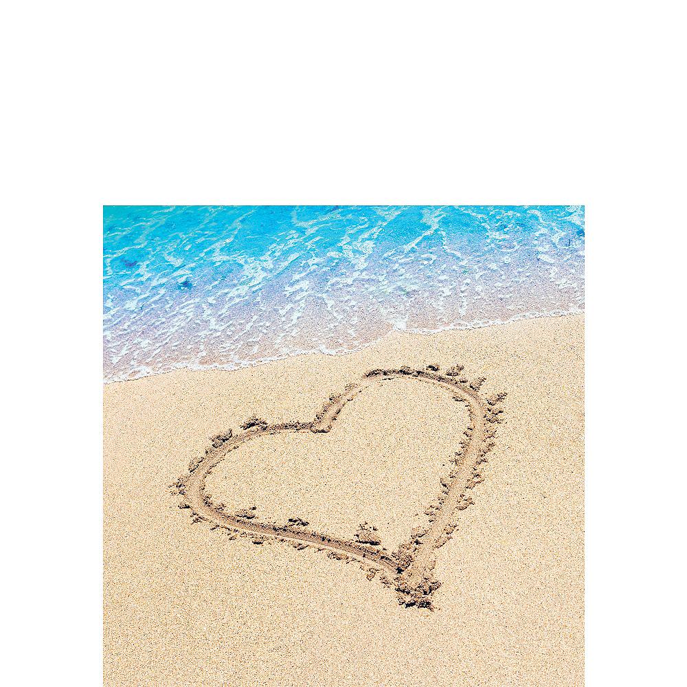 Beach Love Wedding Beverage Napkins 16ct Image #1