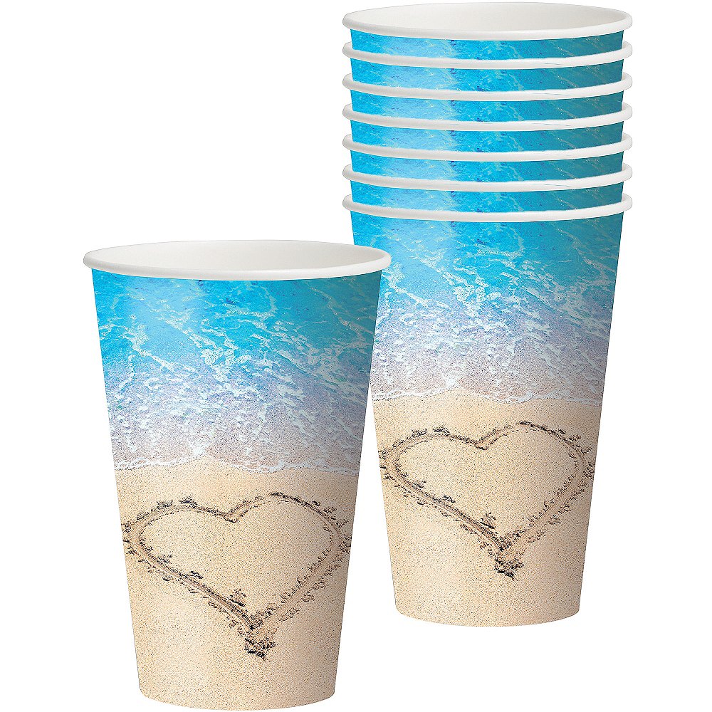 Nav Item for Beach Love Wedding Cups 8ct Image #1