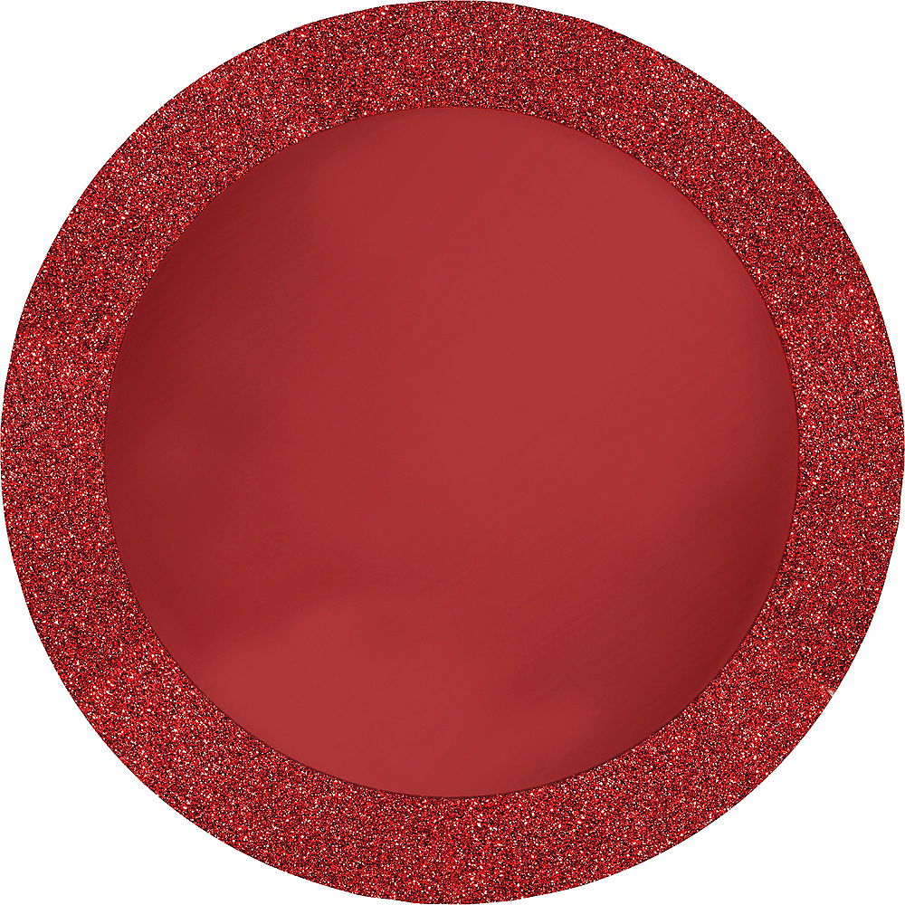 Glitter Red Placemats 8ct Image #1