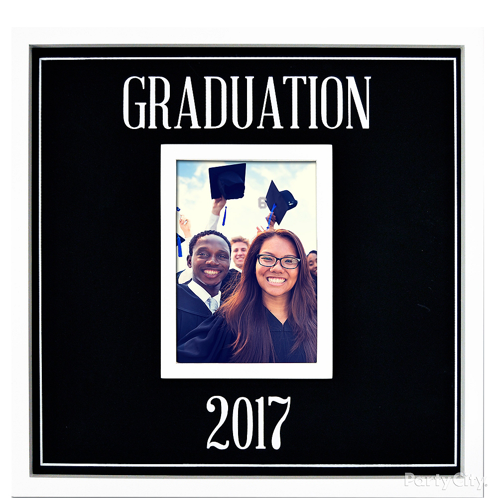 2017 graduation chalkboard photo frame 15in x 15in party city