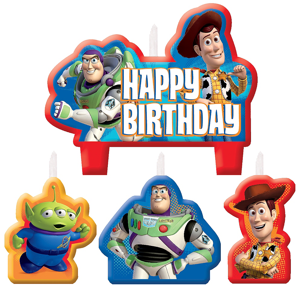 Toy Story Birthday Candles 4ct Image 1