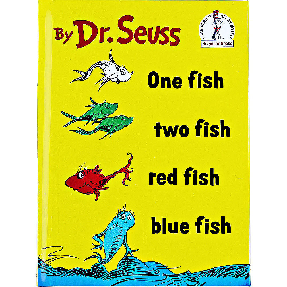 Dr. Seuss One Fish Two Fish Red Fish Blue Fish Book Image #1