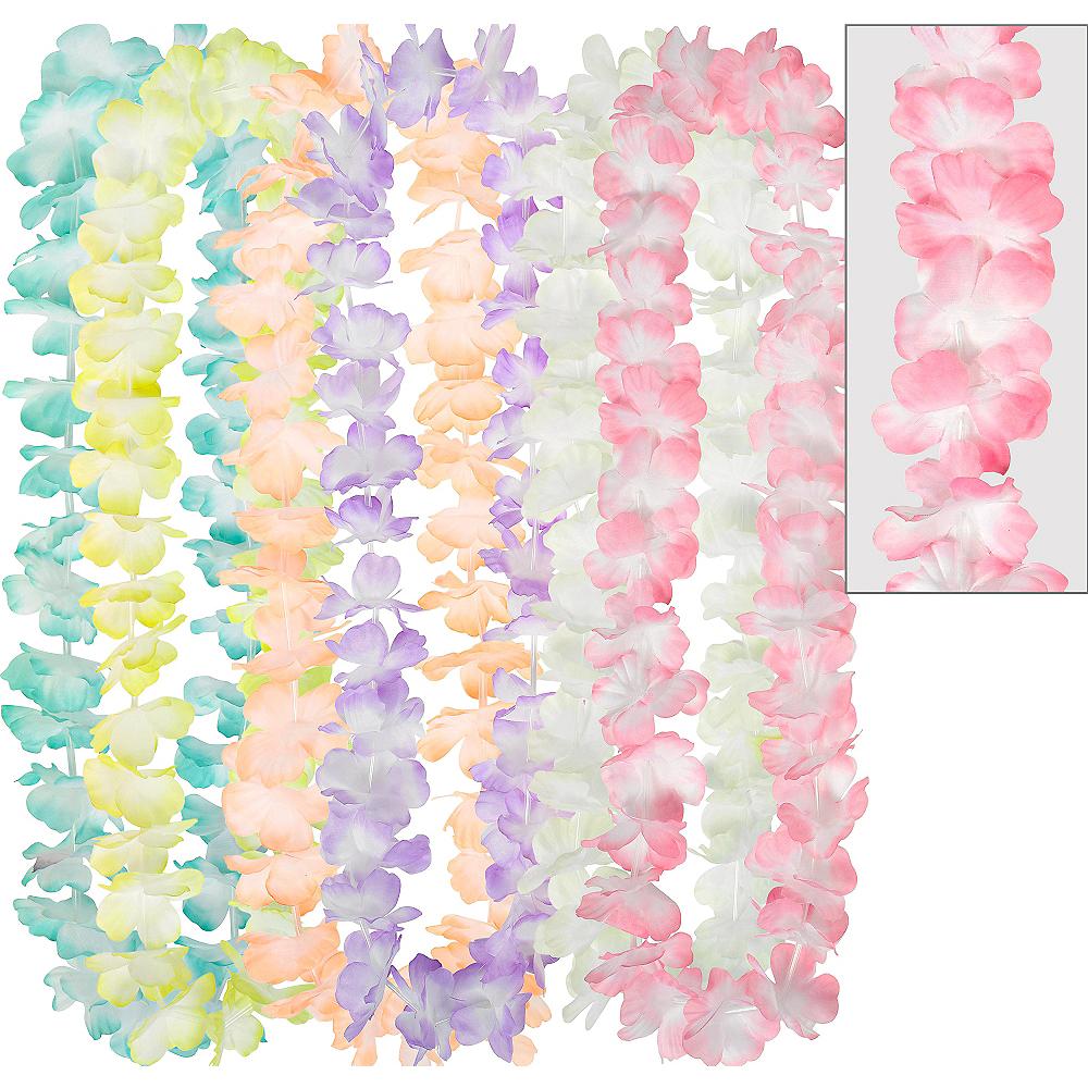 Pastel Flower Leis 6ct Image #1