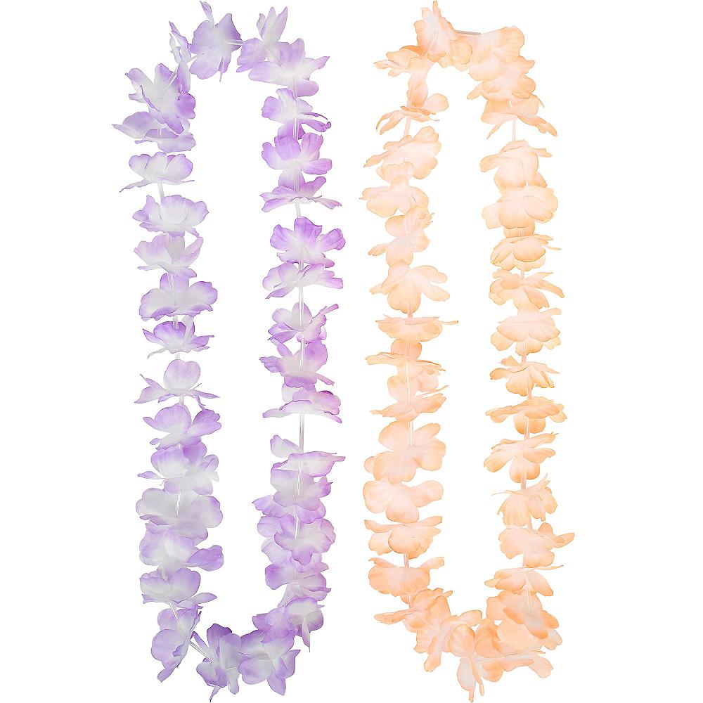 Pastel Flower Leis 6ct Image #3