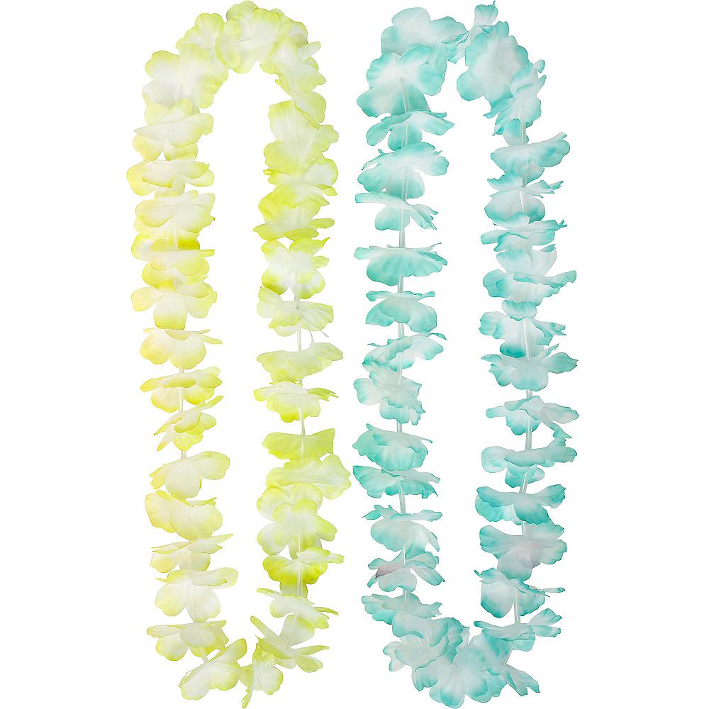 Pastel Flower Leis 6ct Image #4