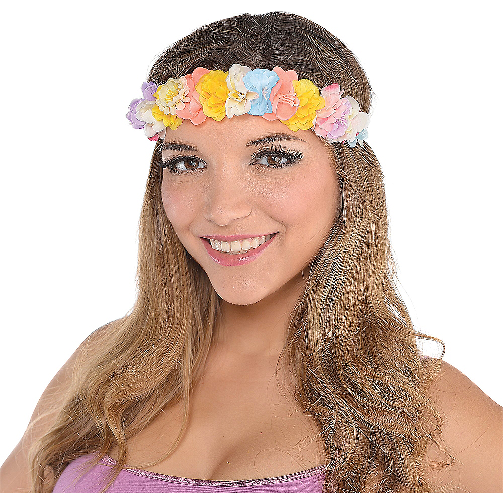 Nav Item for Elastic Floral Headwreath Image #1