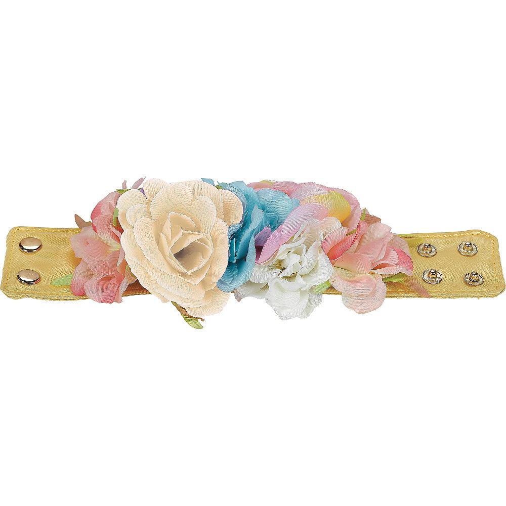 Pastel Floral Wrist Cuffs 2ct Image #2