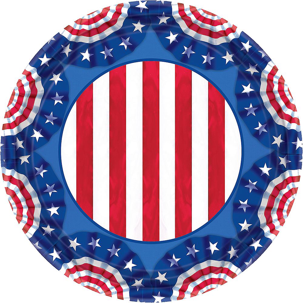 American Pride Patriotic Lunch Plates 60ct Image #1