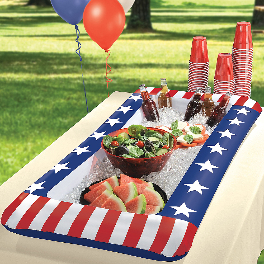 Inflatable Patriotic American Flag Buffet Cooler Image #2