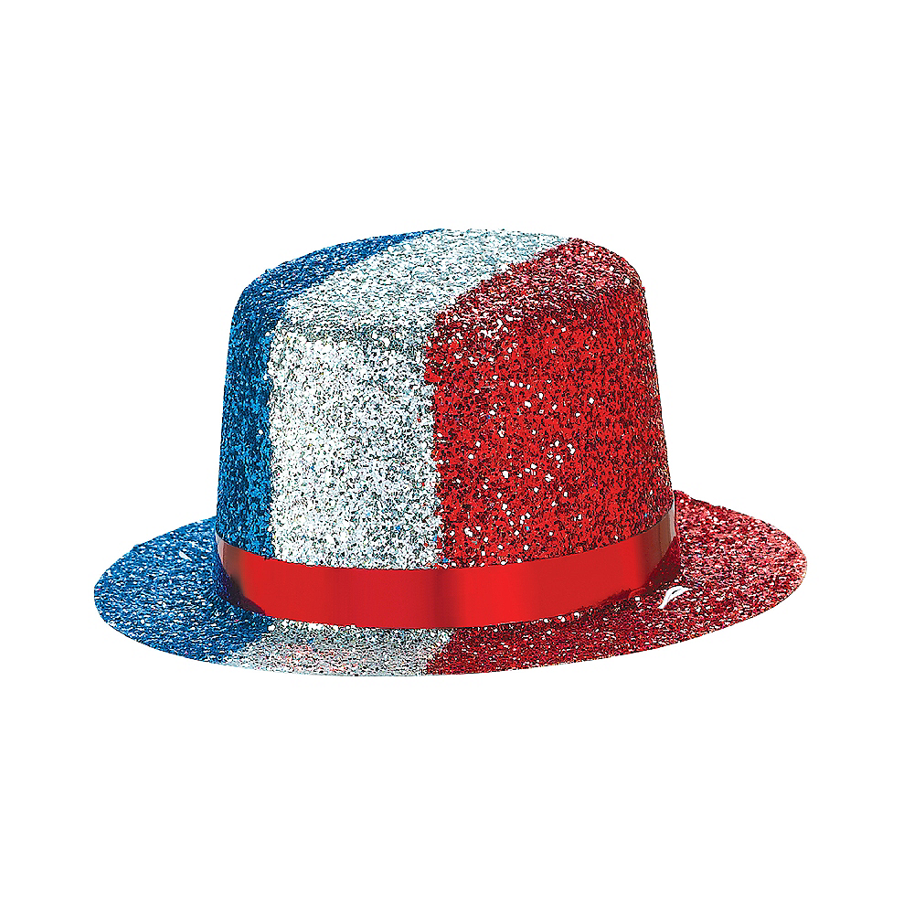 Glitter Patriotic Mini Top Hat Image #2
