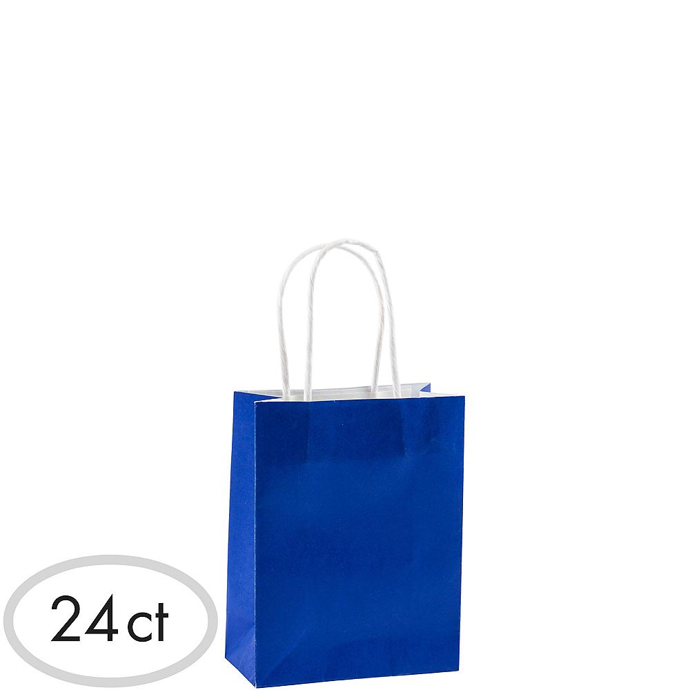 Small Royal Blue Kraft Bags 24ct Image #1
