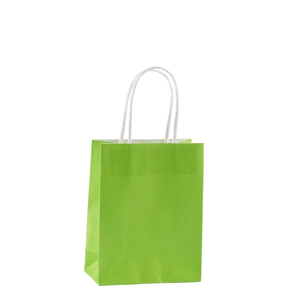 Small Kiwi Green Kraft Bags 24ct Image #2