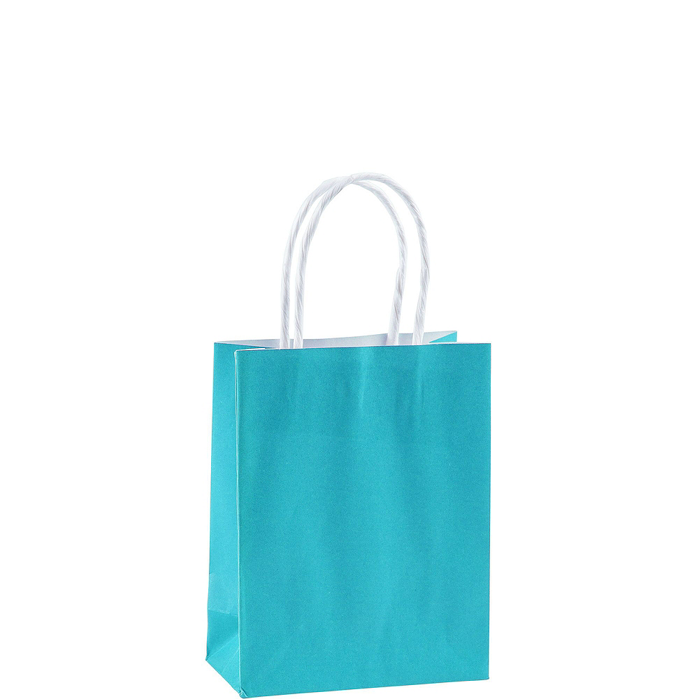 Nav Item For Small Caribbean Blue Kraft Bags 24ct Image 2