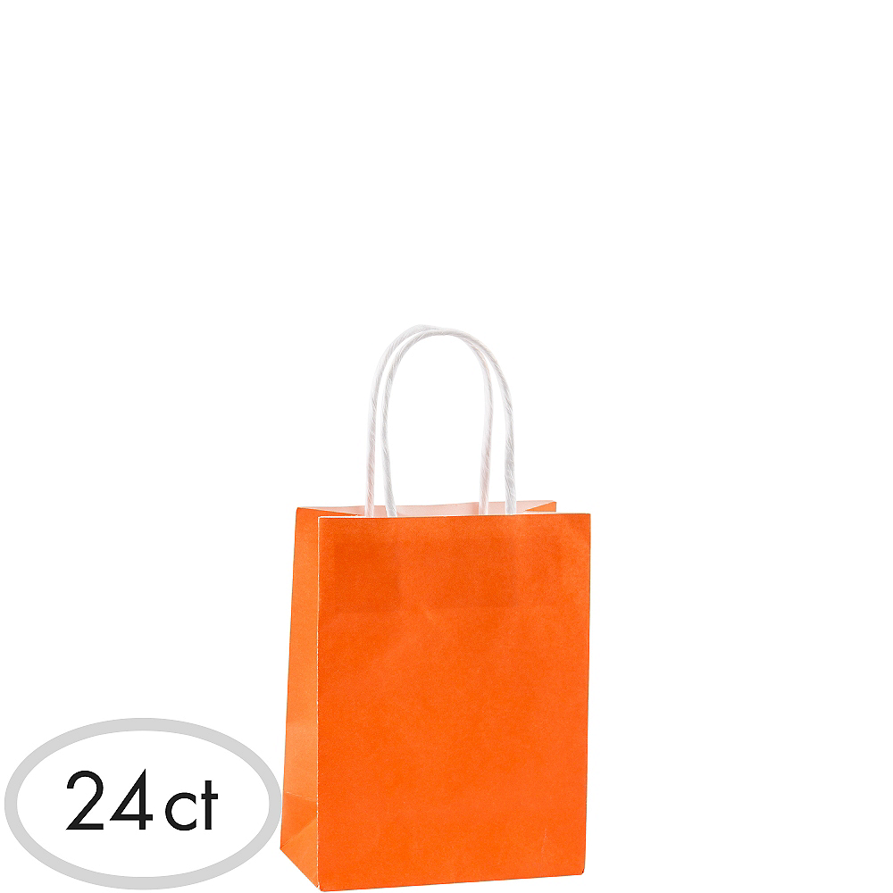 Small Orange Kraft Bags 24ct Image #1