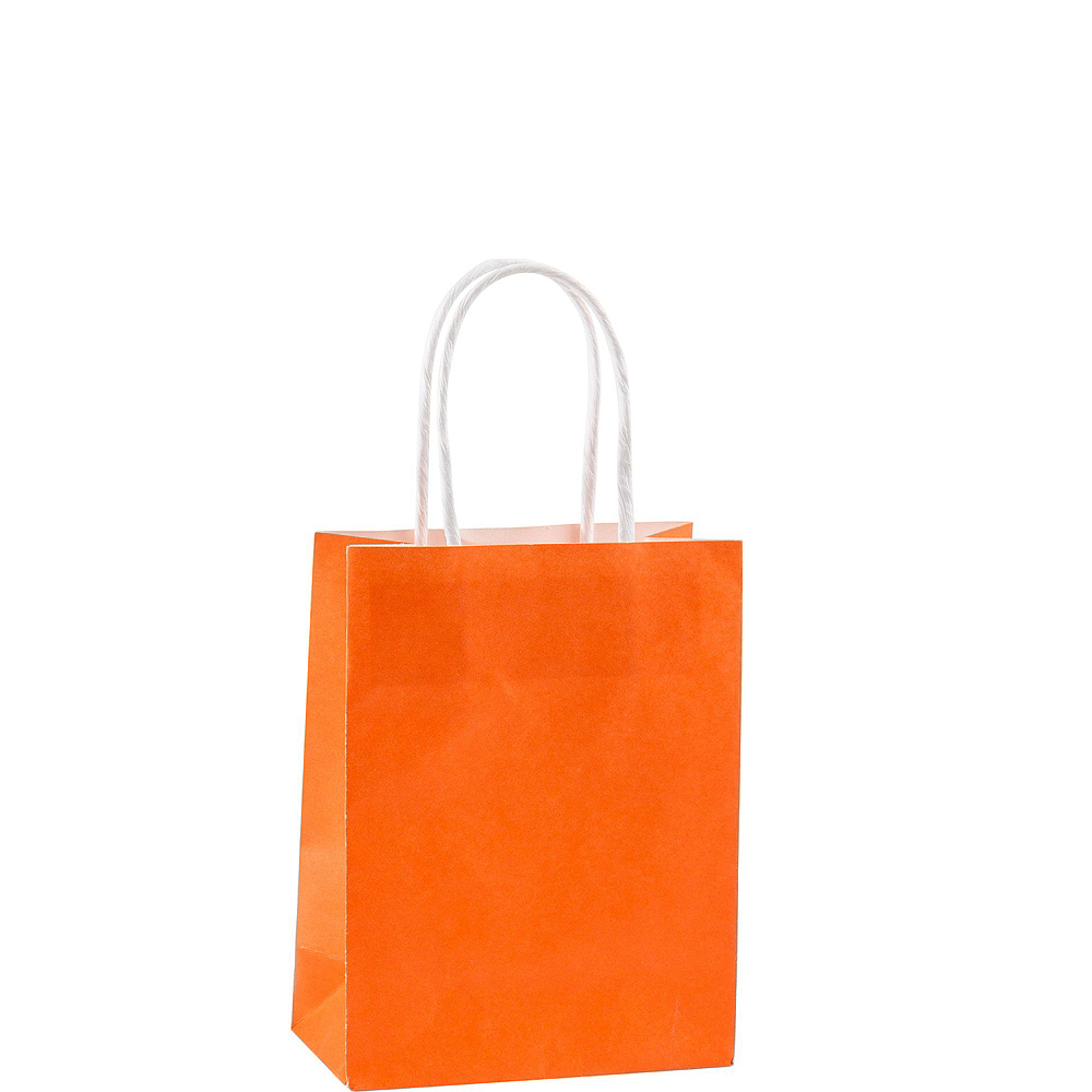 Small Orange Kraft Bags 24ct Image #2
