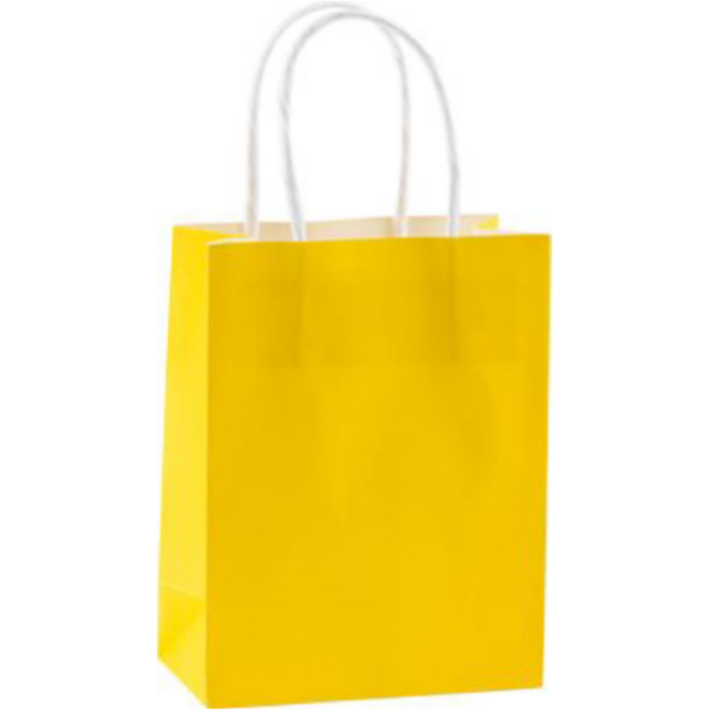 Small Sunshine Yellow Kraft Bags 24ct Image #2