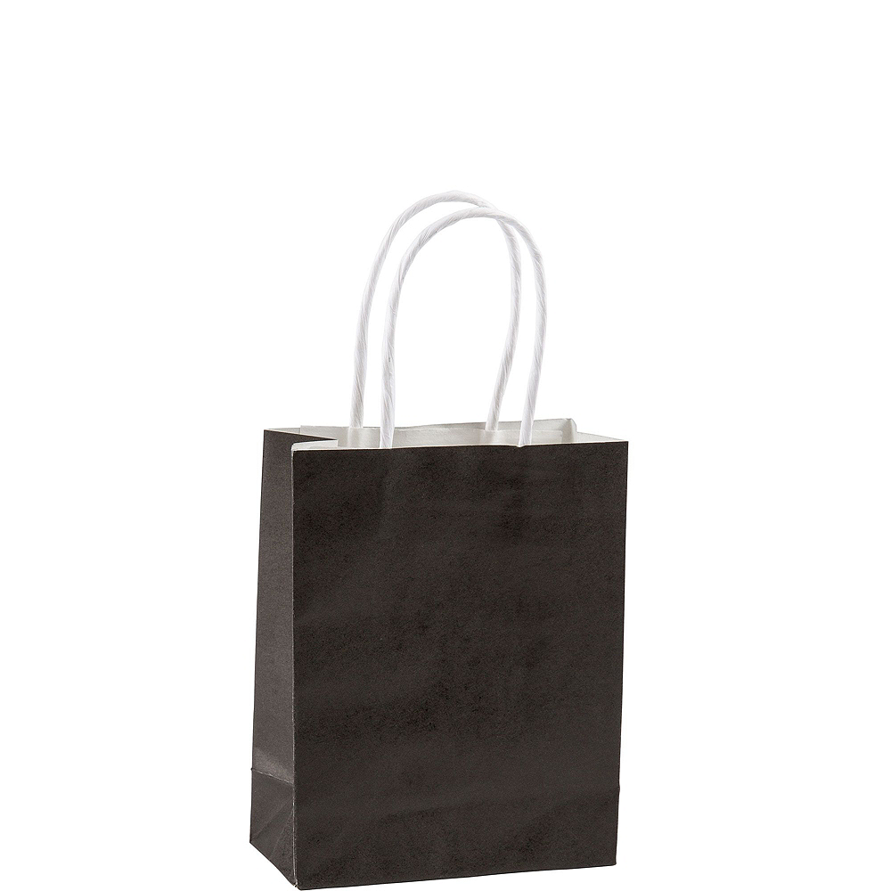 Small Black Kraft Bags 24ct Image #2