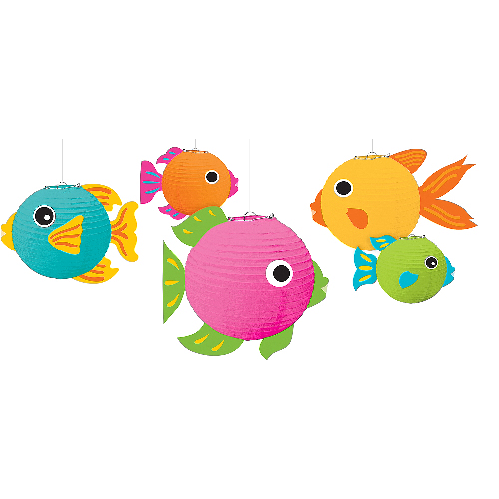 Nav Item for 3D Tropical Fish Paper Lanterns 5ct Image #1