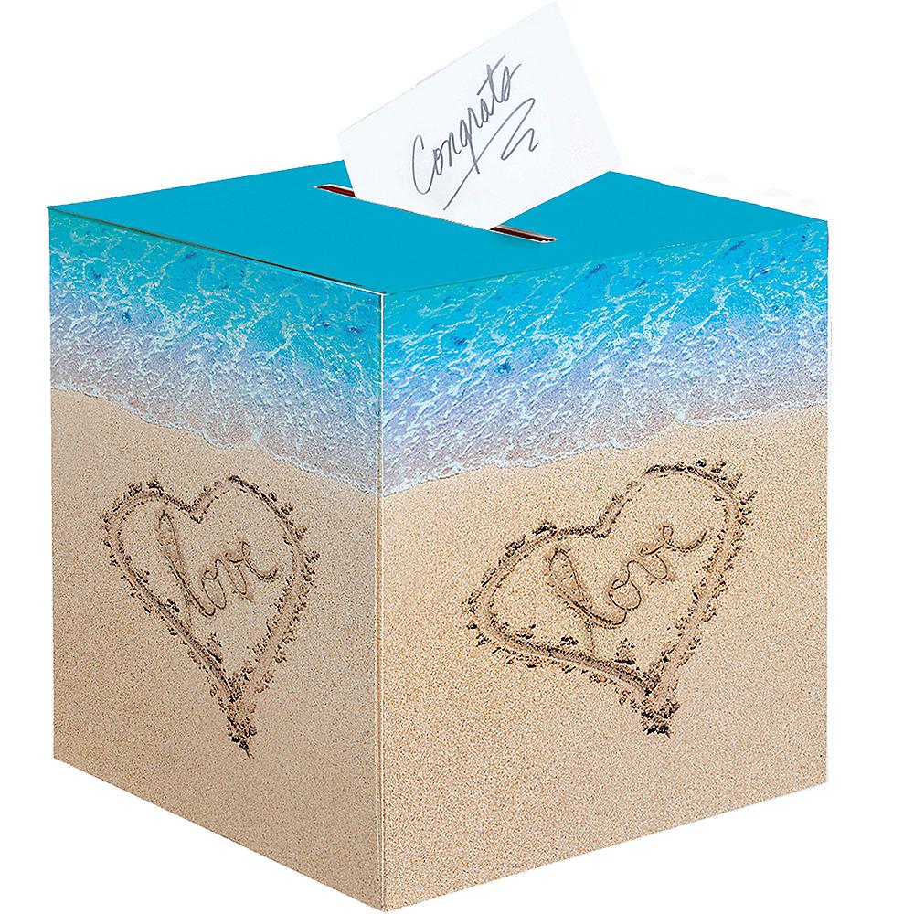 Beach Love Wedding Card Holder Box Image #1