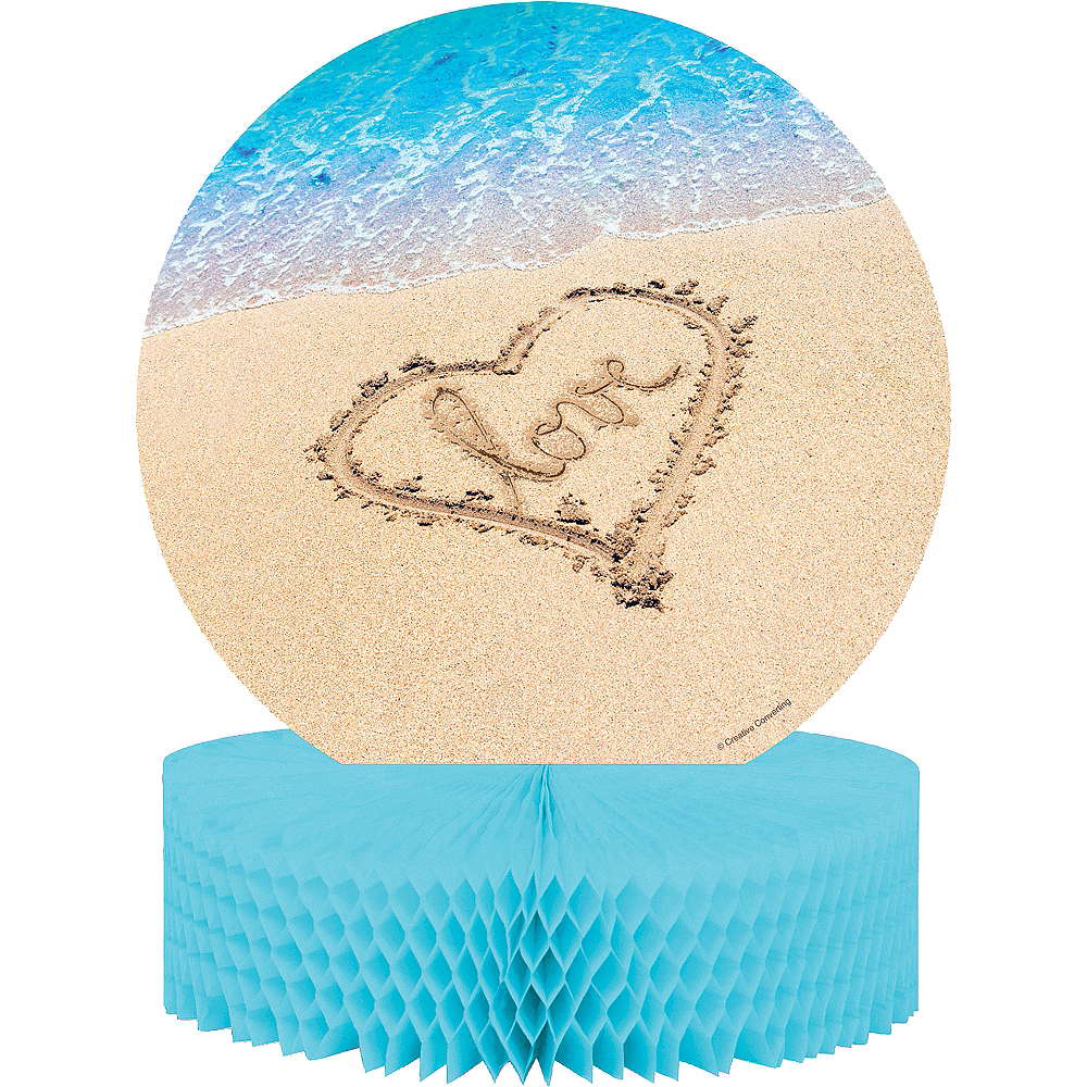 Beach Love Wedding Honeycomb Centerpiece Image #1