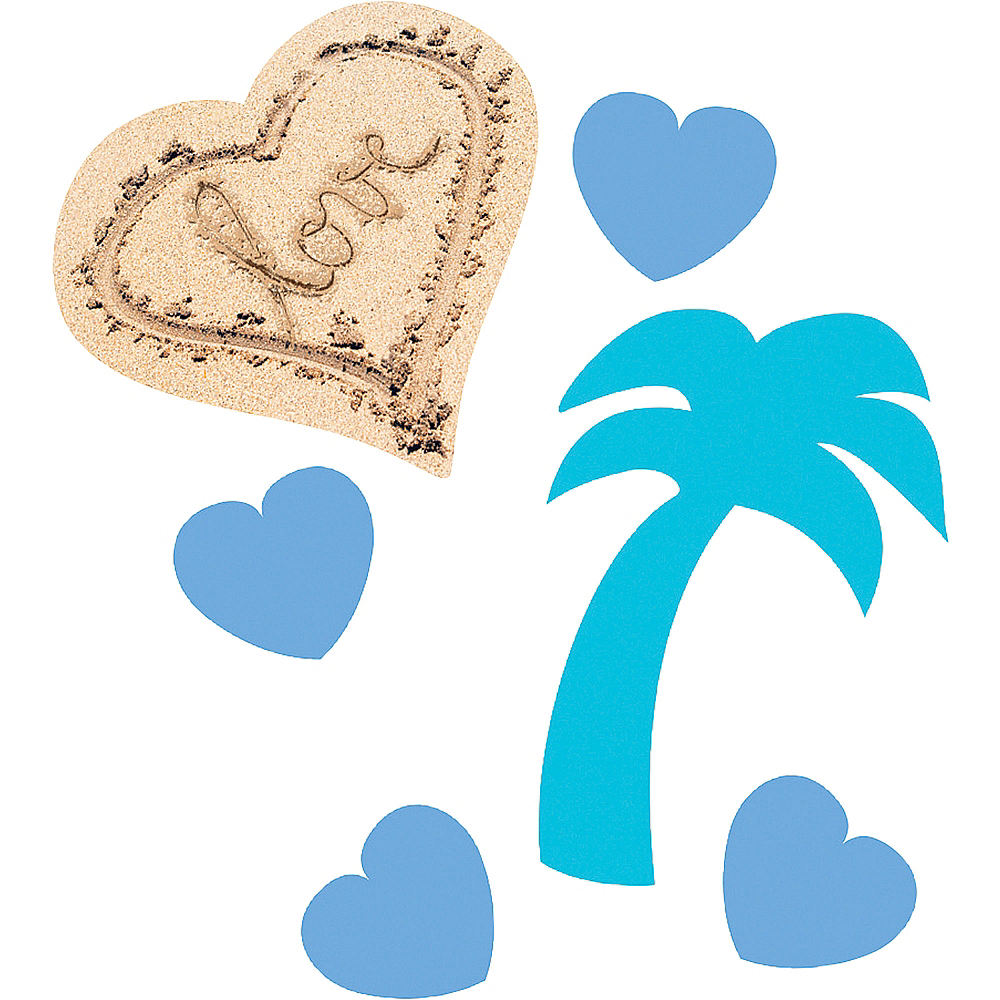 Beach Love Wedding Confetti Image #1