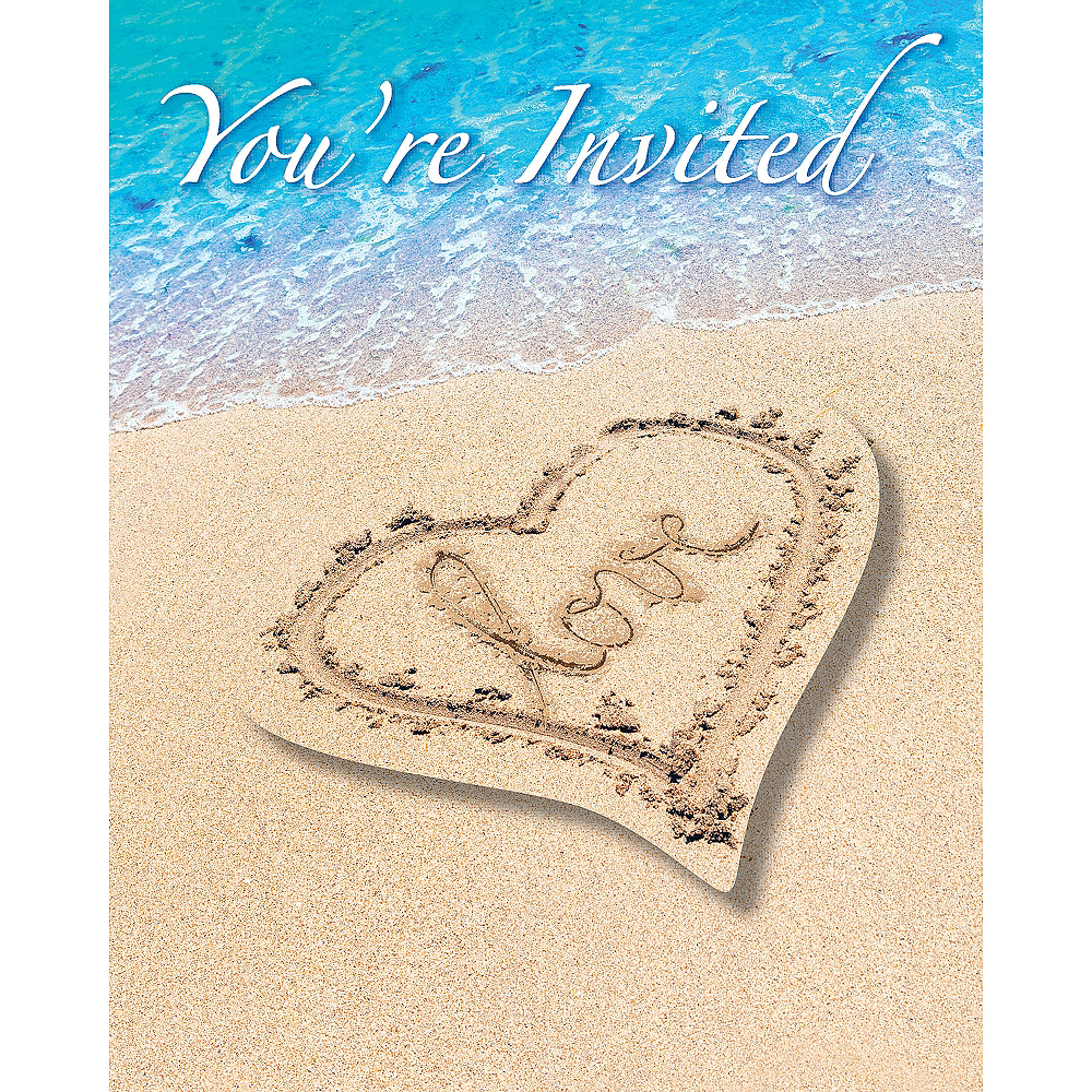 Beach Love Invitations 8ct Image #1