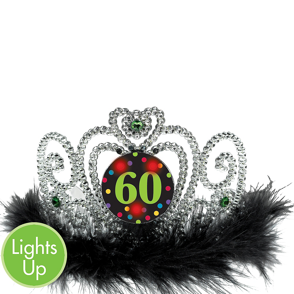 Light-Up 60th Birthday Tiara 6in x 4in | Party City