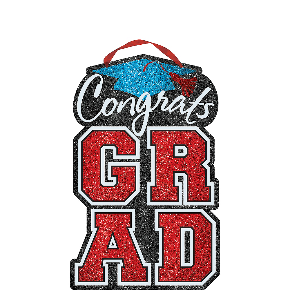 Nav Item for Multicolor Glitter Graduation Sign Image #1