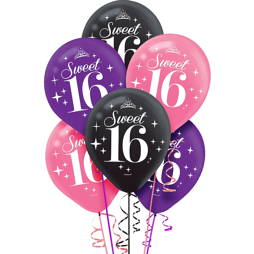 celebrate sweet 16 balloons 6ct party city