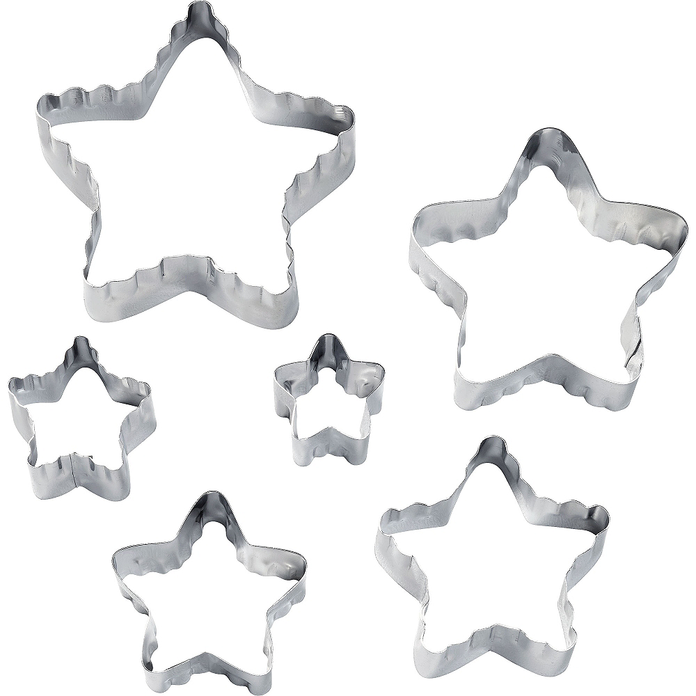 Wilton Star Fondant & Cookie Cutters 6ct Image #1