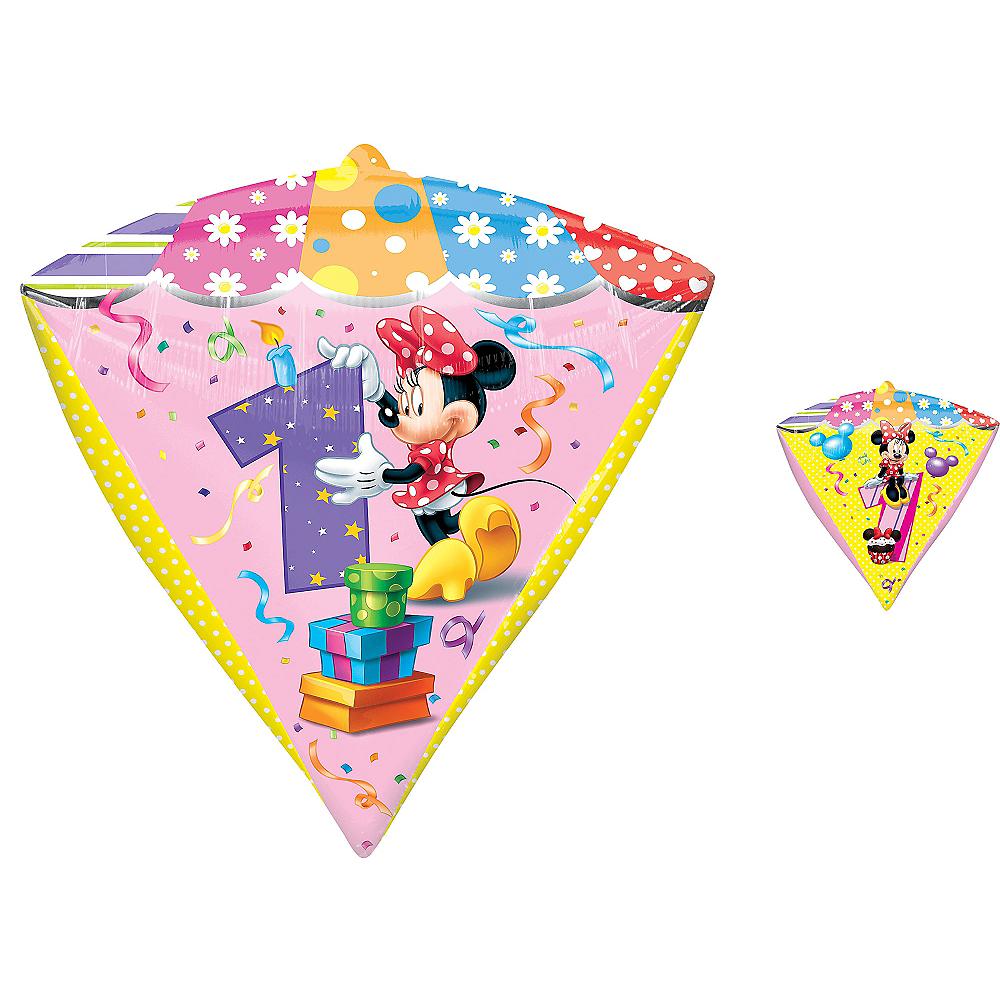 1st Birthday Minnie Mouse Balloon - Diamondz Image #1