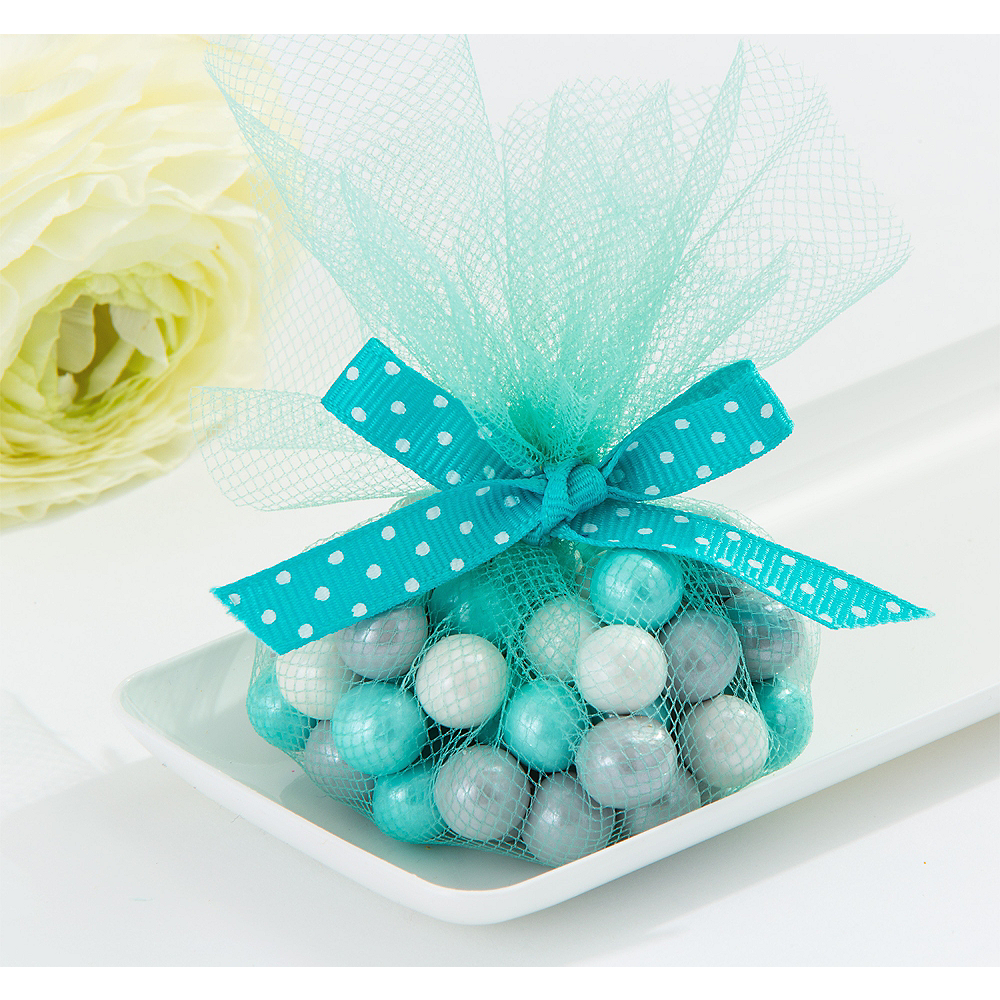 Robins Egg Blue Tulle Circles 50ct Party City
