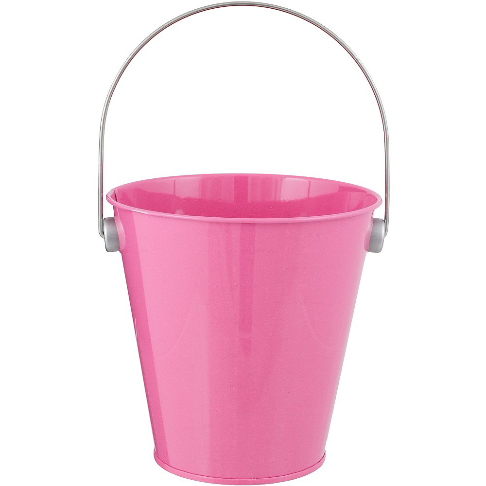 Bright Pink Metal Favor Pail 4 1 4in X 4 1 2in Party City