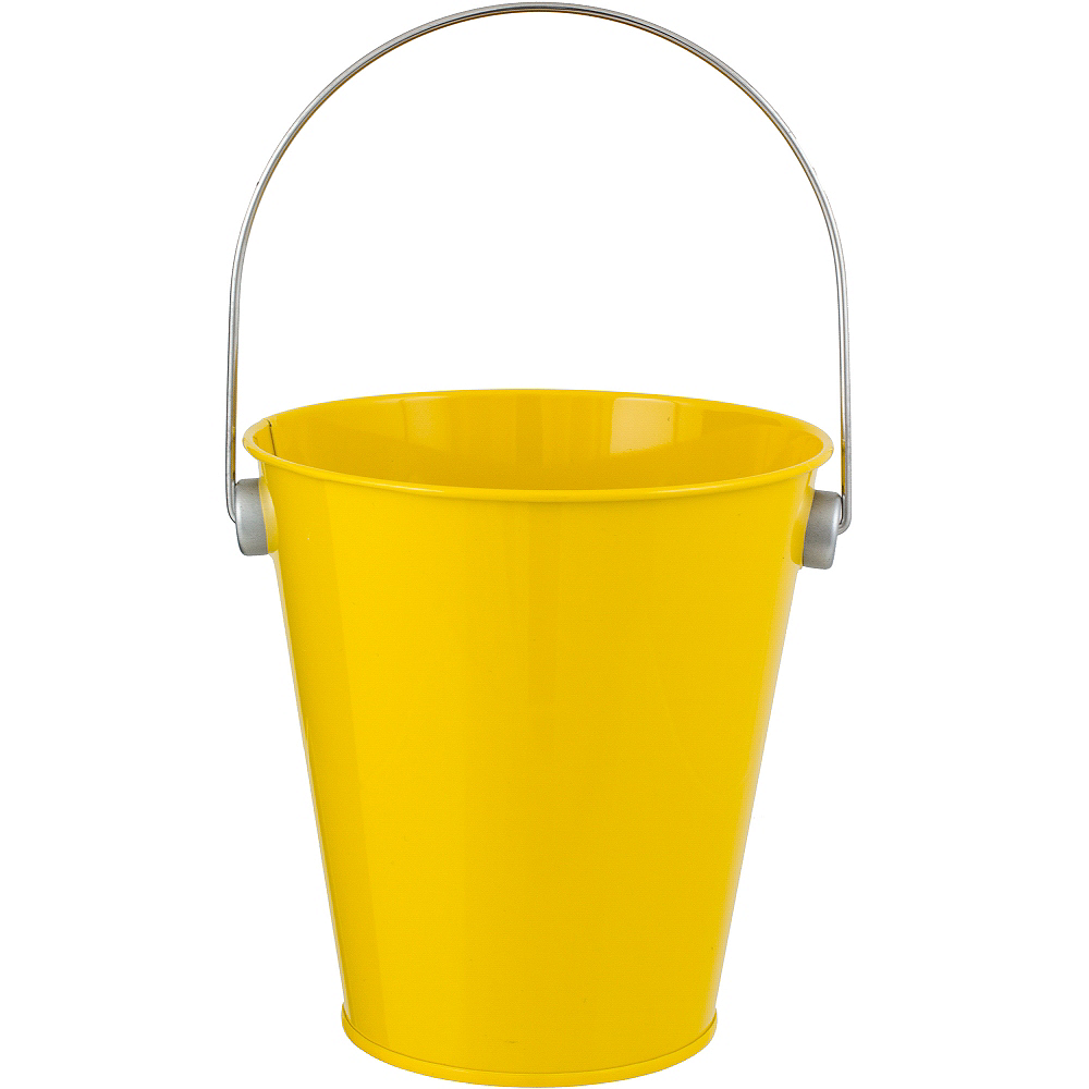 Sunshine Yellow Metal Favor Pail Image #1