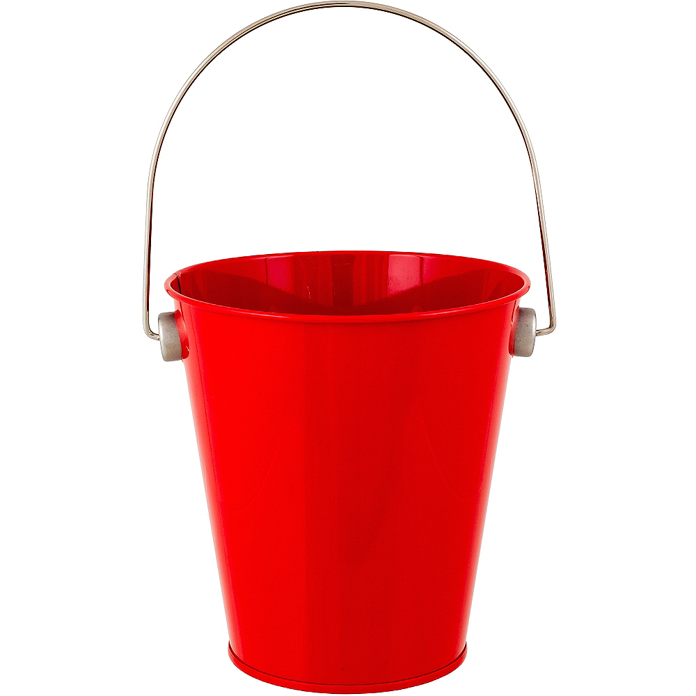 Red Metal Favor Pail 4 14in X 4 12in Party City
