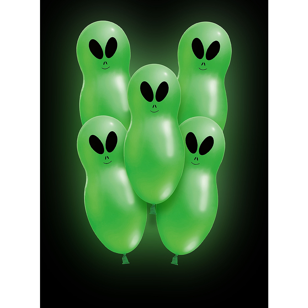 Illooms Light-Up Alien LED Balloons 5ct, 24in Image #1