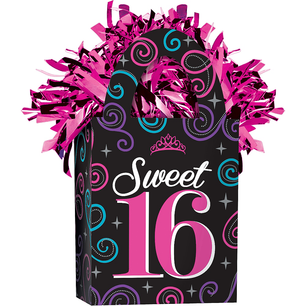 Nav Item for Celebrate Sweet 16 Balloon Weight Image #1