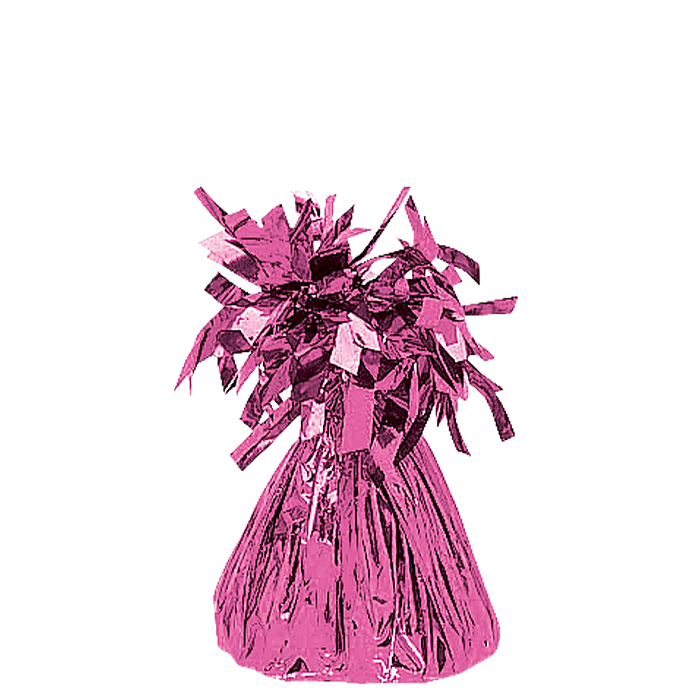 Bright Pink Foil Balloon Weight Image #1