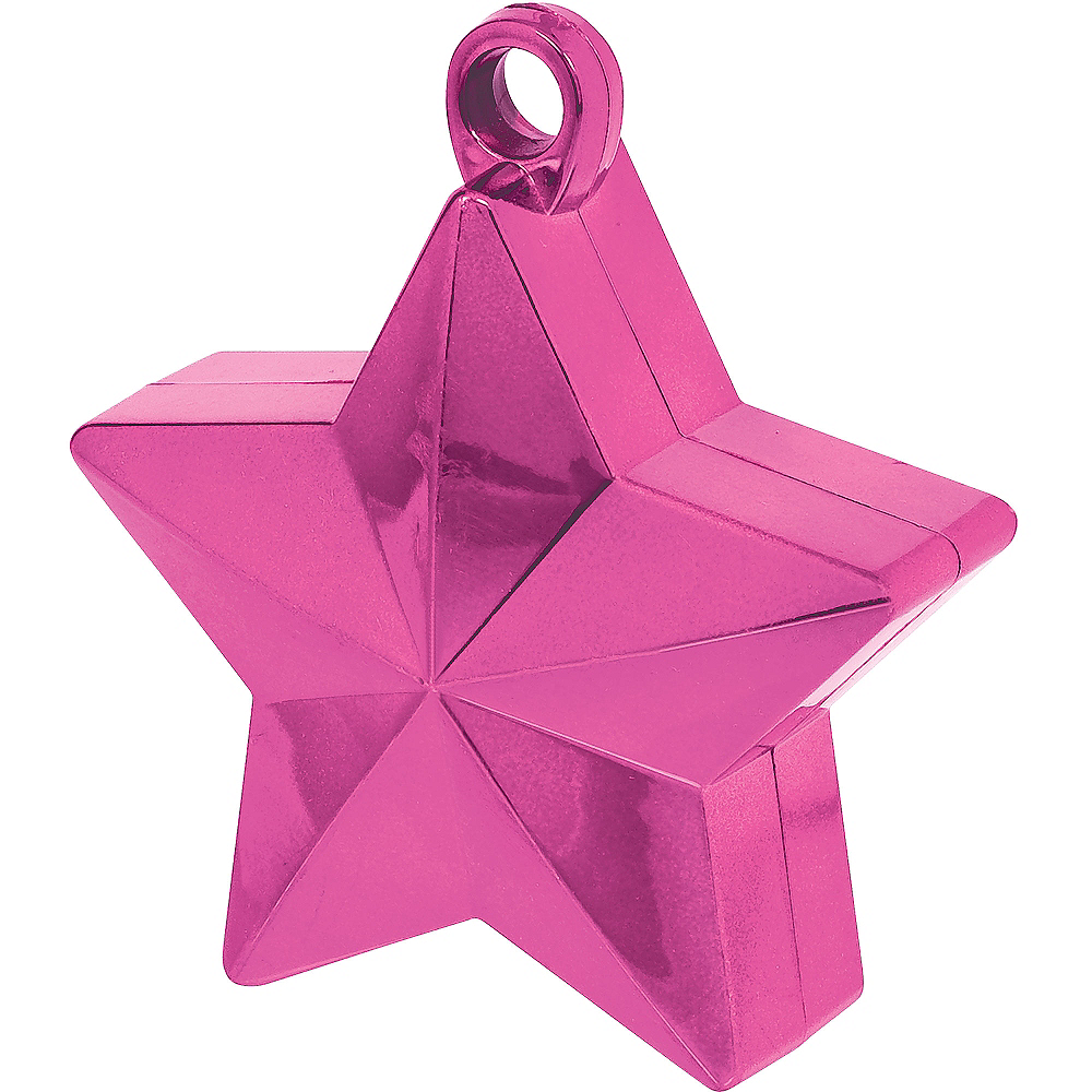 Bright Pink Star Balloon Weight Image #1