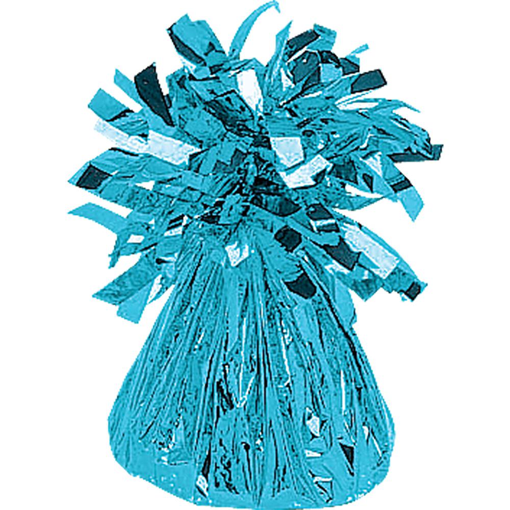 Caribbean Blue Foil Balloon Weight Image #1