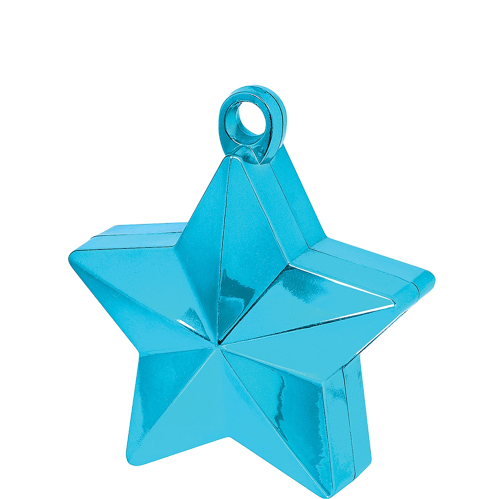 Caribbean Blue Star Balloon Weight Image #1