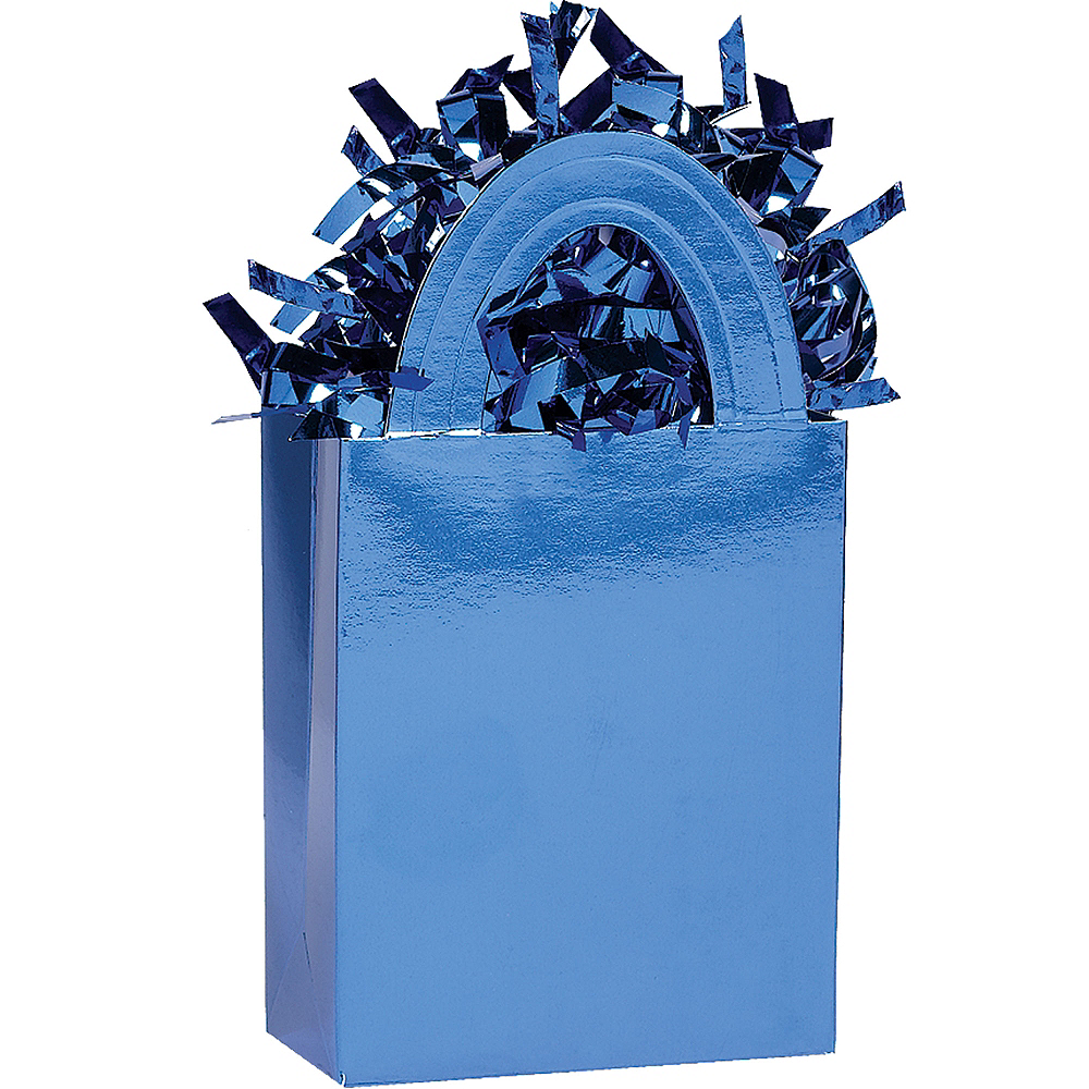 Royal Blue Mini Tote Balloon Weight Image #1