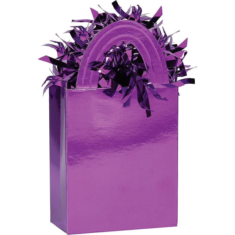 Purple Mini Tote Balloon Weight Image #1