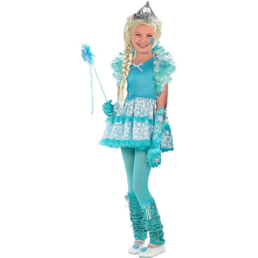 Baby Princess Salon Beauty Leg Ballet: Girls Tutu Elsa Costume - Frozen