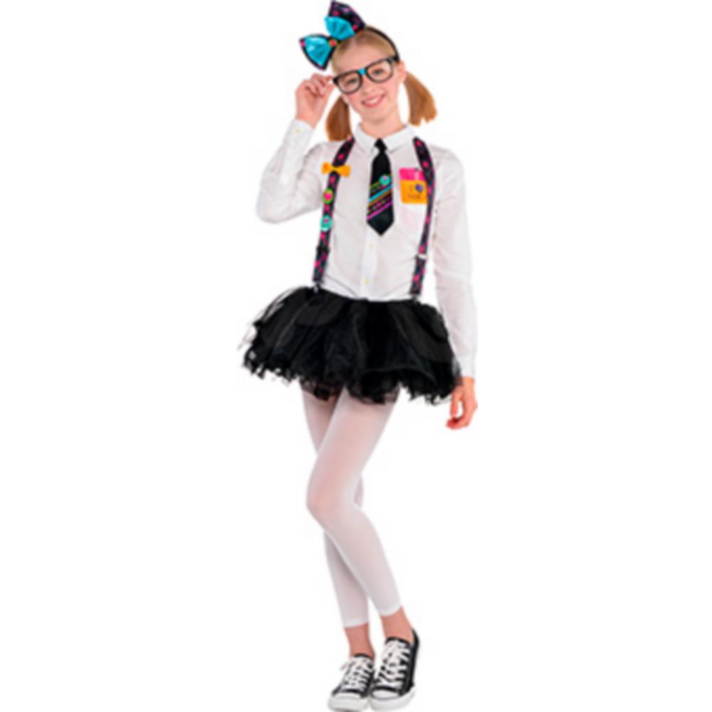 Girls Nerd Tutu Costume Image #1